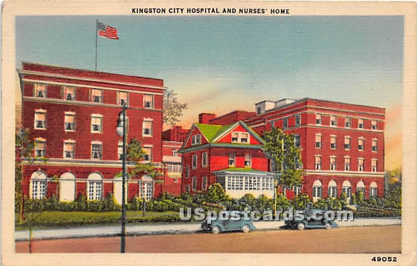 Kingston City Hospital & Nurses' Home - New York NY Postcard