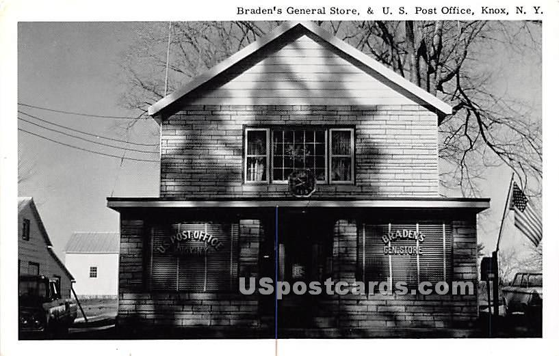 Braden's General Store & US Post Office - Knox, New York NY Postcard