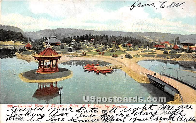 Pavilion - Kingston Point, New York NY Postcard