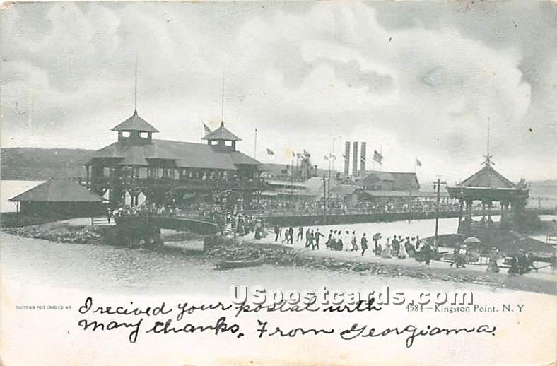 Kingston Point - New York NY Postcard