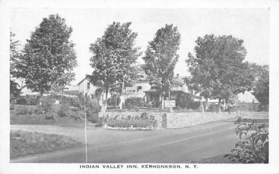 Indian Valley Inn Kerhonkson, New York Postcard