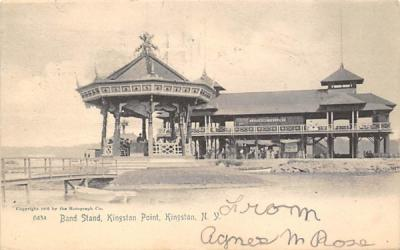 Band Stand Kingston Point New York Postcard