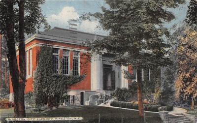 Kingston City Library New York Postcard