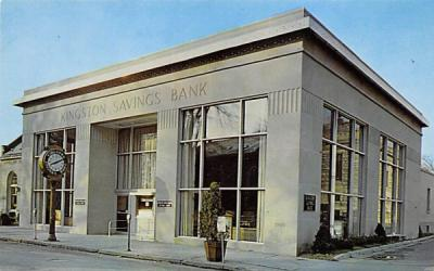 Kingston Savings Bank New York Postcard