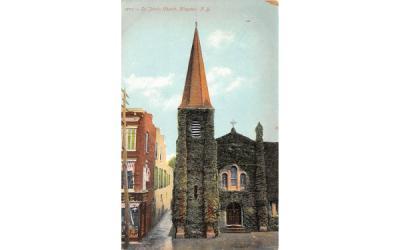 1872 St Johns Church Kingston, New York Postcard
