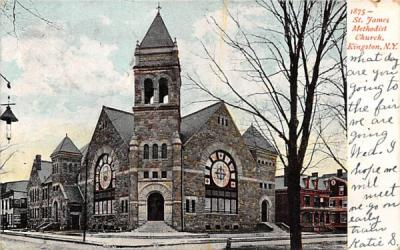 1875 St James Methodist Church Kingston, New York Postcard