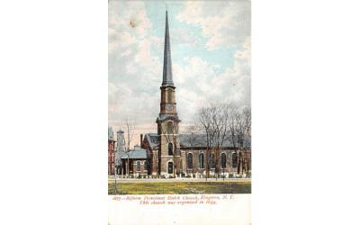 1877 Reform Protestant Dutch Church Kingston, New York Postcard