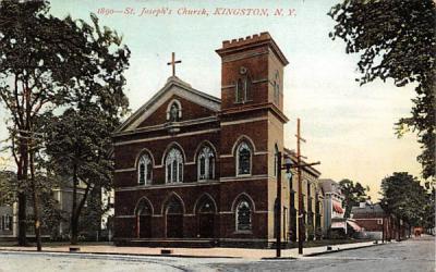 1890 St Josephs Church Kingston, New York Postcard