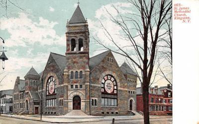 1875 St James Methodist Church Kingston, New York Postcard