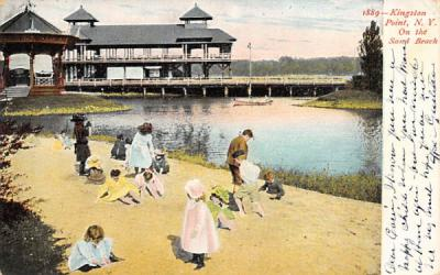 1889 Kingston Point Beach New York Postcard