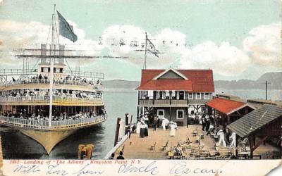 Landing of the Albany Kingston, New York Postcard