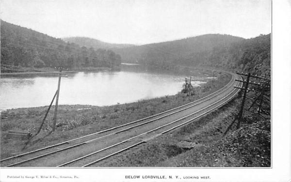 Looking West Lordville, New York Postcard