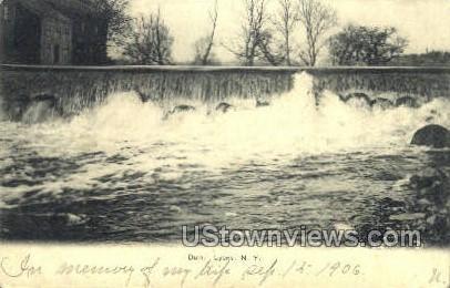 Dam - Lyons, New York NY Postcard