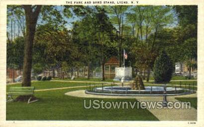 Band Stand - Lyons, New York NY Postcard