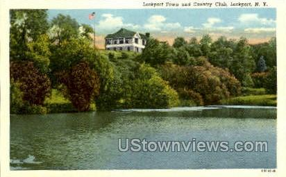 Country Club - Lockport, New York NY Postcard
