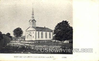 Baptist Church - Ludingtonville, New York NY Postcard
