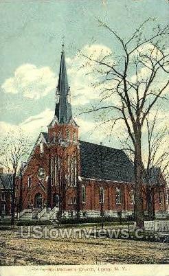 St. Michael's Church - Lyons, New York NY Postcard