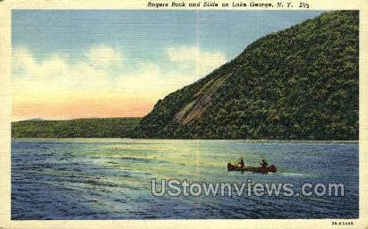 Rogers Roge - Lake George, New York NY Postcard