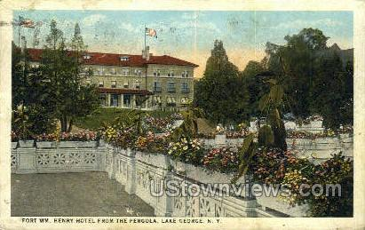 Ft. Wm. Henry Hotel - Lake George, New York NY Postcard