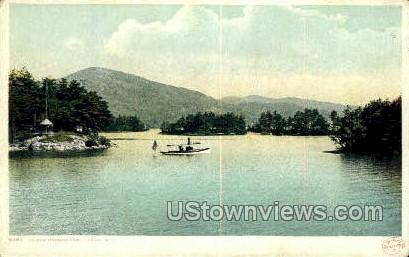Island Harbor - Lake George, New York NY Postcard