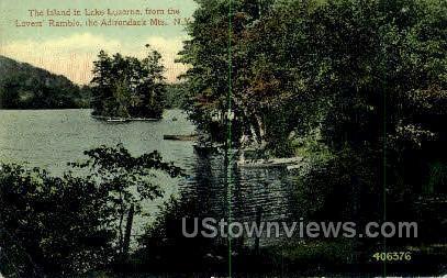 Lake Luzerne - Adirondack Mts, New York NY Postcard
