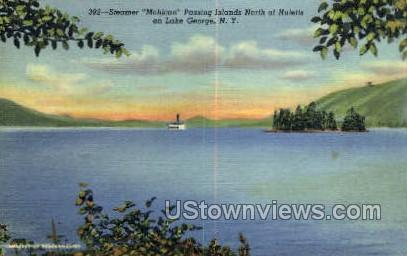 Steamer Mohican - Lake George, New York NY Postcard