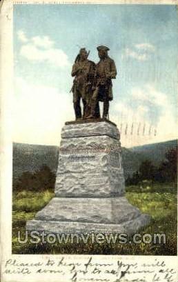 Battle Monument - Lake George, New York NY Postcard
