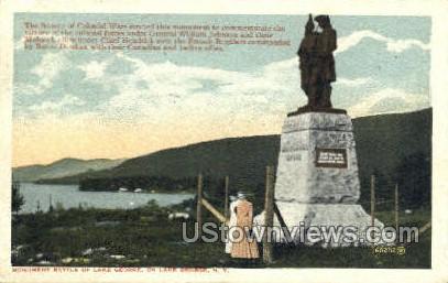 Monument - Lake George, New York NY Postcard