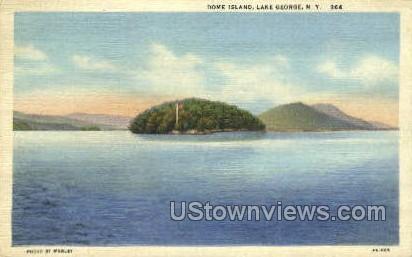 Dome Island - Lake George, New York NY Postcard