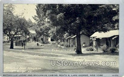 Batesville Lodge - Lake George, New York NY Postcard