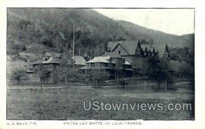 Silver Bay Hotel - Lake George, New York NY Postcard