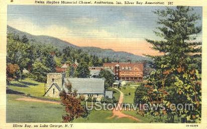 Helen Hughes Memorial Chapel - Lake George, New York NY Postcard