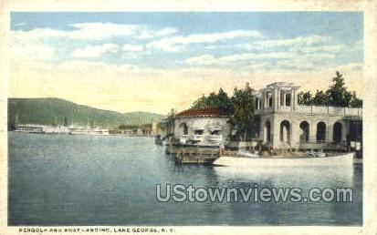 Pergola - Lake George, New York NY Postcard