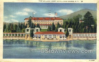 Ft William Henry Hotel - Lake George, New York NY Postcard
