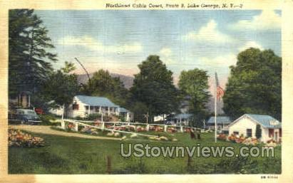 Northland Cabin Court - Lake George, New York NY Postcard