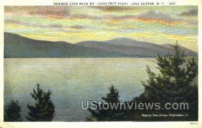 Buck Mt. - Lake George, New York NY Postcard