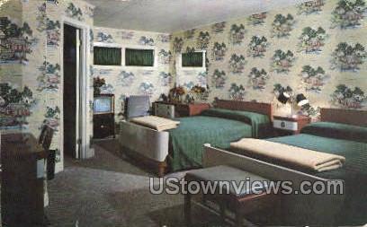 Burton's Marine Village Motel - Lake George, New York NY Postcard