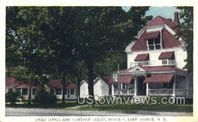 Ingle Lodge - Lake George, New York NY Postcard
