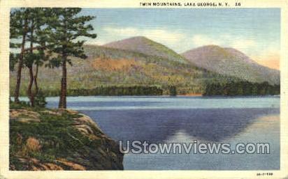 Twin Mtns. - Lake George, New York NY Postcard