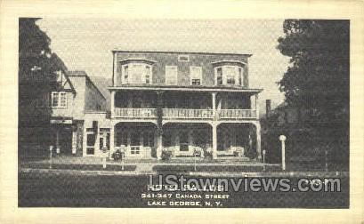 Hotel Ballos - Lake George, New York NY Postcard