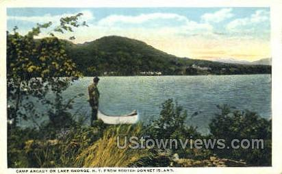 Camp Arcady - Lake George, New York NY Postcard