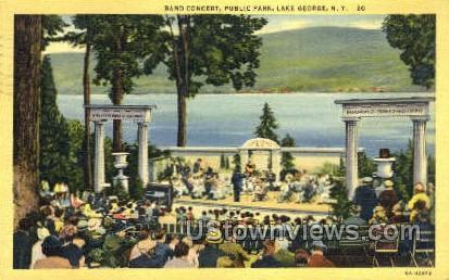 Public Park - Lake George, New York NY Postcard