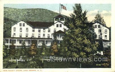 Hulett House - Lake George, New York NY Postcard