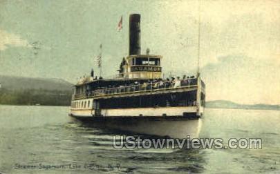 Steamer Sagamore - Lake George, New York NY Postcard