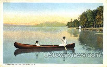 Canoeing - Lake George, New York NY Postcard
