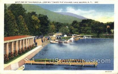 Village - Lake George, New York NY Postcard
