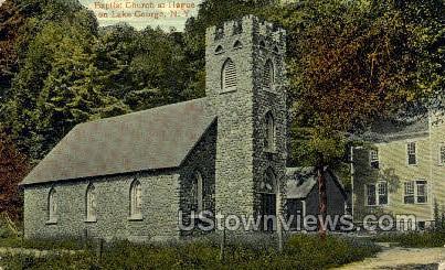Baptist Church - Lake George, New York NY Postcard