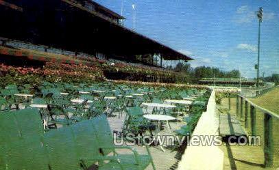 Saratoga Raceway - Lake George, New York NY Postcard