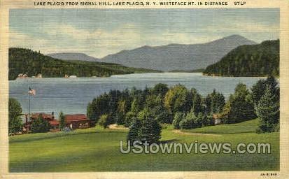 Signal Hill - Lake Placid, New York NY Postcard
