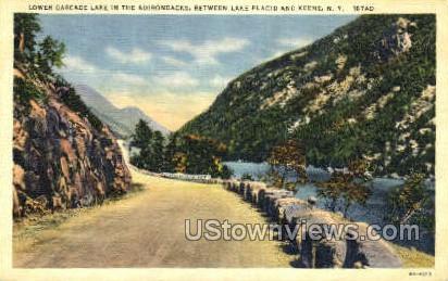 Lower Cascade - Lake Placid, New York NY Postcard